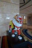 Rey del mono de la escultura del león del casino del hotel de MGM de Macao Foto de archivo libre de regalías