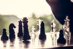 Rey del pedazo de ajedrez de la balanza Imágenes de archivo libres de regalías