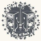 Rey del símbolo de la roca Fotos de archivo libres de regalías