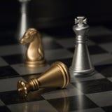 Rey derrotado en ajedrez Imagen de archivo