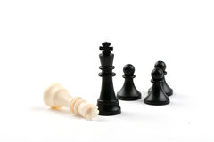 Rey Down del ajedrez Fotos de archivo