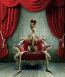 Rey esquelético Foto de archivo libre de regalías