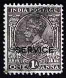 Rey George V con la corona india del ` s del emperador, serie 1926-36 de Definitives, circa 1979 Imagen de archivo libre de regalías