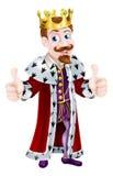 Rey Giving Double Thumbs de la historieta para arriba Fotografía de archivo libre de regalías