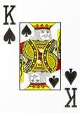 Rey grande del naipe del índice de espadas ilustración del vector