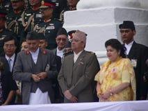 Rey Gyanendra y reina Komal Nepal 2005 Fotos de archivo
