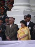 Rey Gyanendra y reina Komal Nepal 2005 Foto de archivo