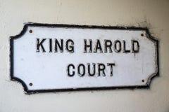 Rey Harold Court en la abadía de Waltham Fotos de archivo libres de regalías