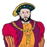 Rey Henry el VIII stock de ilustración