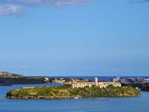 Rey Island dans Mahon sur Minorca Image libre de droits