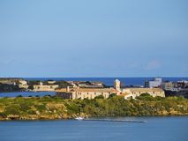 Rey Island in Mahon op Minorca Royalty-vrije Stock Foto's