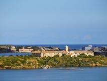 Rey Island in Mahon su Minorca Fotografie Stock Libere da Diritti