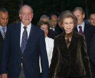 Rey Juan Carlos y reina Sofía imágenes de archivo libres de regalías