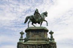 Rey Juan de la estatua de Sajonia (Dresden, Alemania) Foto de archivo libre de regalías
