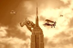 Rey Kong en sepia del Empire State Building libre illustration