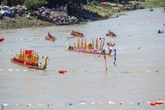 Rey largo tradicional Cup de los barcos de Tailandia de la competencia Imagen de archivo