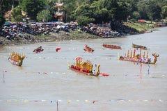 Rey largo tradicional Cup de los barcos de Tailandia de la competencia Fotografía de archivo