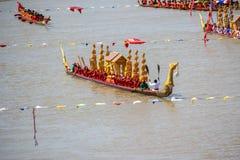 Rey largo tradicional Cup de los barcos de Tailandia de la competencia Imagen de archivo libre de regalías