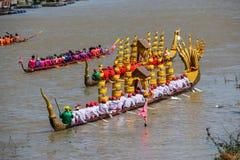 Rey largo tradicional Cup de los barcos de Tailandia de la competencia Imagenes de archivo