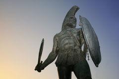 Rey Leonidas, Sparta Imagen de archivo