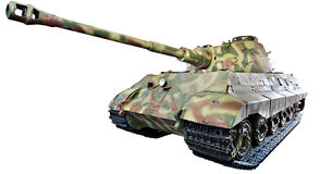Rey pesado alemán Tiger del tigre II de PzKpfw VI Ausf B del tanque aisló Foto de archivo libre de regalías