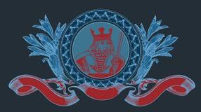 Rey Sign With Banner de las tarjetas. Imagen de archivo libre de regalías