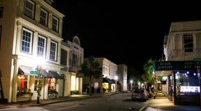 Rey St, Charleston en el tiempo de la Navidad Fotografía de archivo libre de regalías