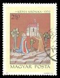 Rey Stephen y reina Gizella que funda una iglesia Fotografía de archivo libre de regalías