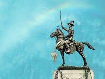 Rey Taksin de la salvación independiente imágenes de archivo libres de regalías