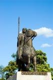 Rey Wroclaw Polonia de la estatua Imagen de archivo