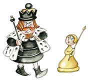 Rey y empeño ilustración del vector