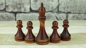Rey y empeños negros del ajedrez metrajes