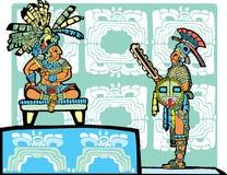 Rey y guerrero mayas Foto de archivo