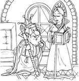 Rey y princesa Imagen de archivo