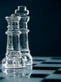 Rey y reina del ajedrez Fotos de archivo libres de regalías