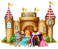 Rey y reina en el castillo libre illustration