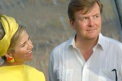Rey y reina holandeses en Bonaire Fotografía de archivo