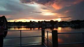 Reyes Bay Park, Crystal River Florida Sunsets 54 Foto de archivo