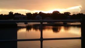 Reyes Bay Park, Crystal River Florida Sunsets 81 Foto de archivo libre de regalías