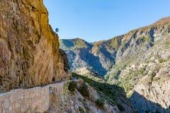 Reyes Canyon Scenic Byway Fotografía de archivo