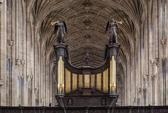 Reyes College Chapel Cambridge Inglaterra Fotografía de archivo