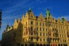 Reyes Court, edificios viejos, ciudad vieja, Praga, República Checa del hotel Fotografía de archivo