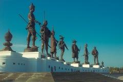 7 reyes de Tailandia fotos de archivo libres de regalías