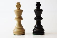 Reyes del ajedrez Imagenes de archivo