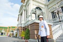 Reyes Guard en Royal Palace magnífico Fotografía de archivo libre de regalías