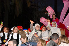 Reyes mágicos - desfile del Los Reyes Magos en Málaga Imagen de archivo libre de regalías