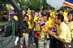 Reyes tailandeses 85o cumpleaños Foto de archivo libre de regalías