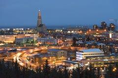 Reyjkavik stad, Island Fotografering för Bildbyråer