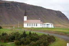 Reykholakirkja, una delle molte chiese islandesi Immagine Stock