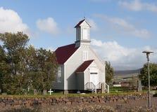 Reykholtskirkja - eldri, en av de många isländskakyrkorna Royaltyfria Foton
